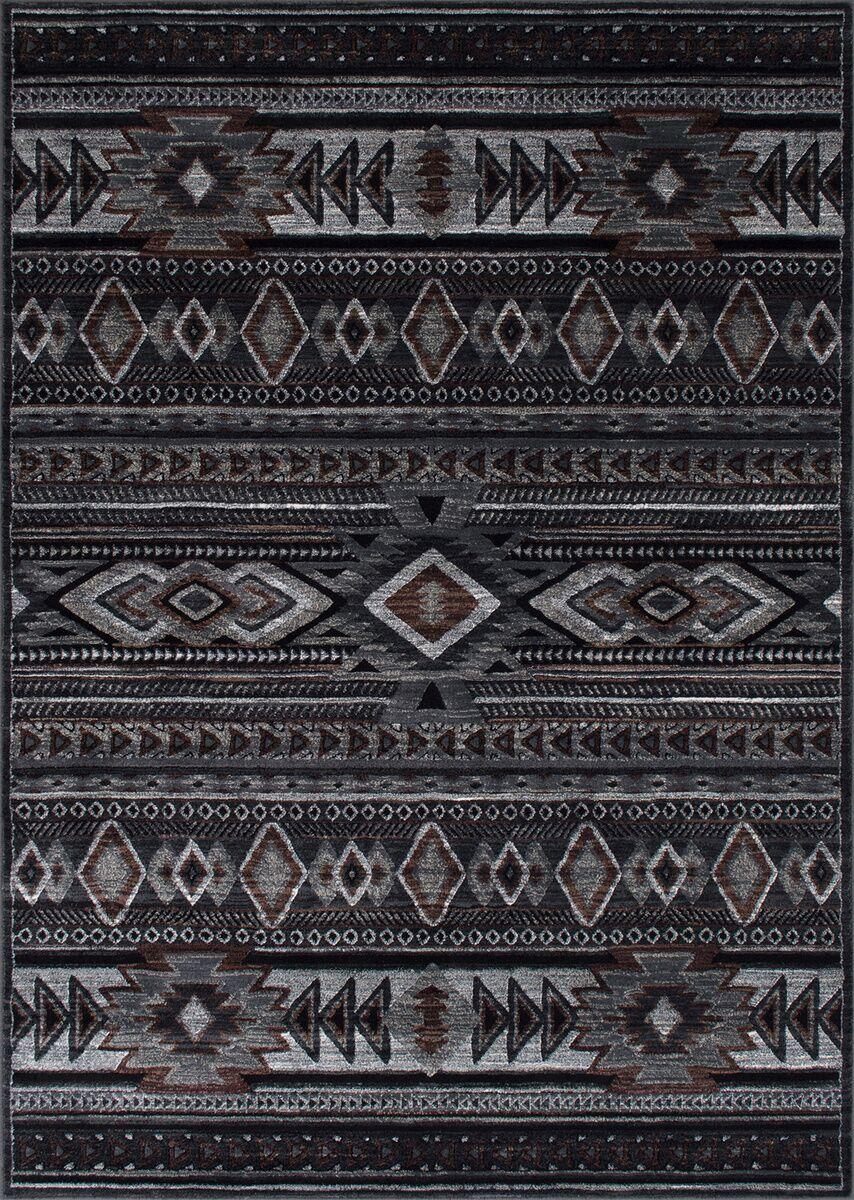 Cima Tribal Style Gray/Black Area Rug