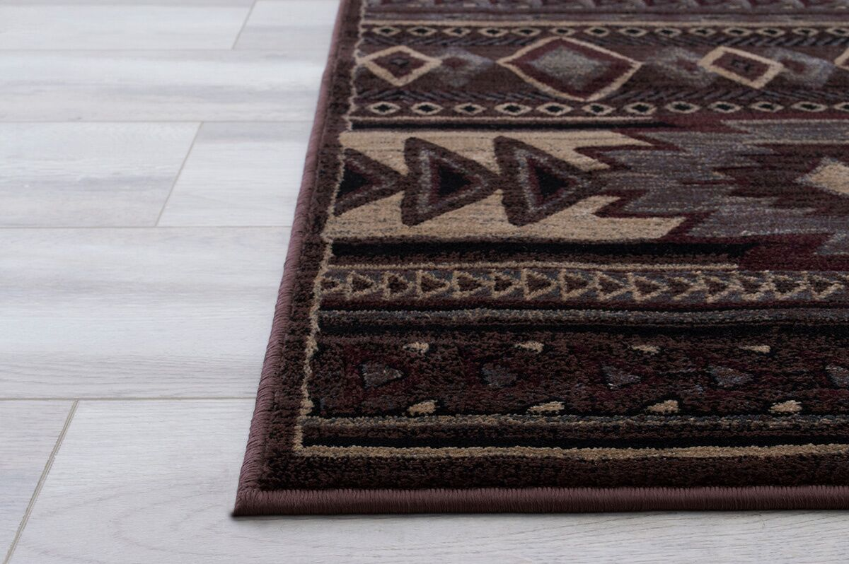 Jorge Tribal Brown Area Rug