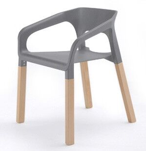 Symphony Solid Wood Dining Chair Finish: Gray