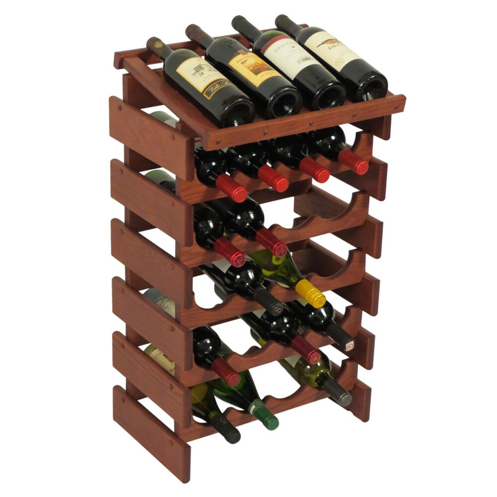 Dakota 24 Bottle Floor Wine Rack Finish: Mahogany