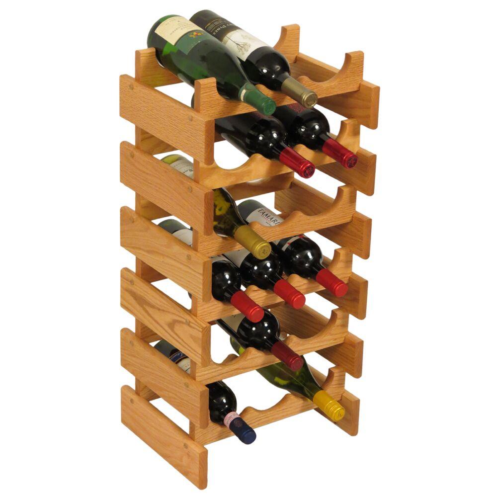 Dakota 18 Bottle Floor Wine Rack Finish: Light Oak