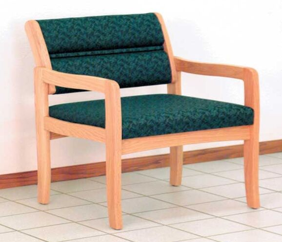 Valley Bariatric Guest Chair Wood Finish: Light Oak, Seat Color: Leaf Green