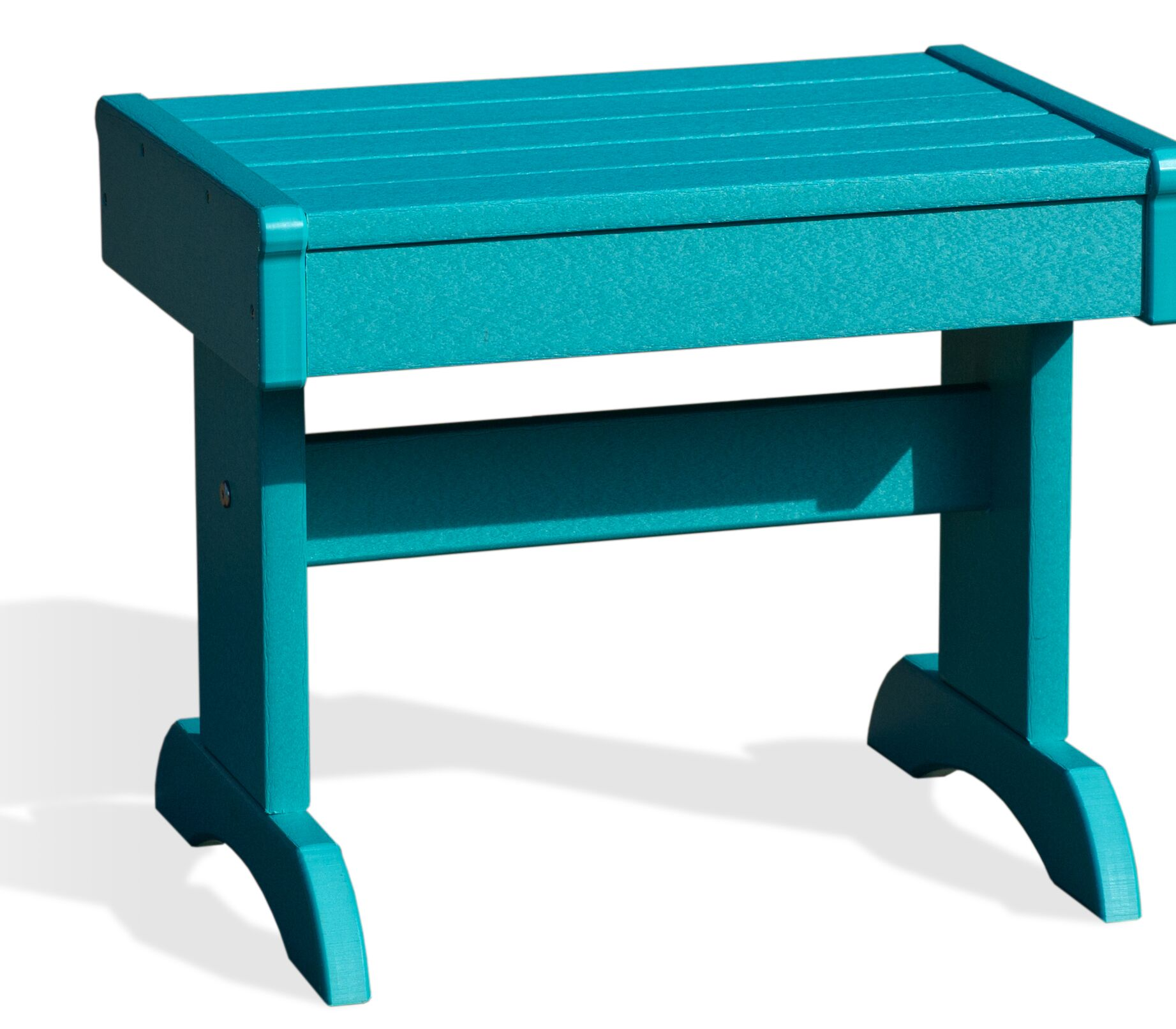 Kelling Poly Plastic Side Table Color: Aruba Blue