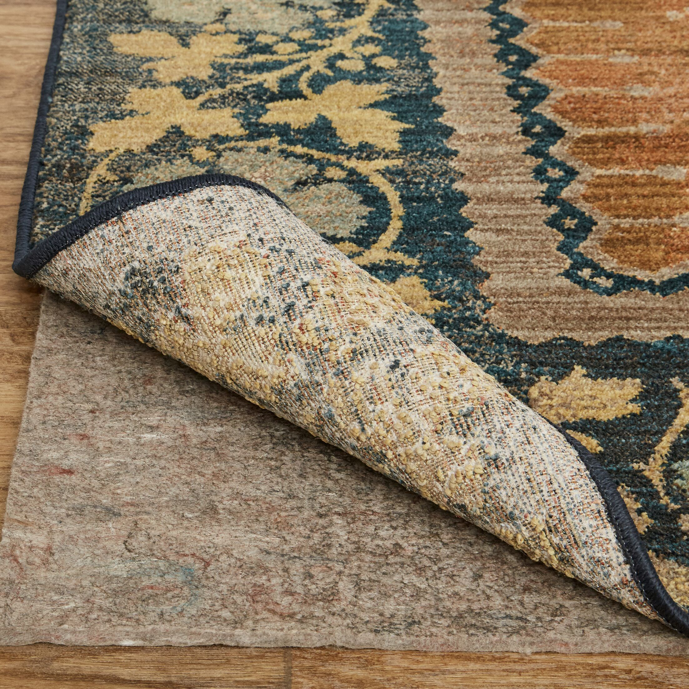 Floret Saffron Brown Area Rug Rug Size: Rectangle 8' x 10'