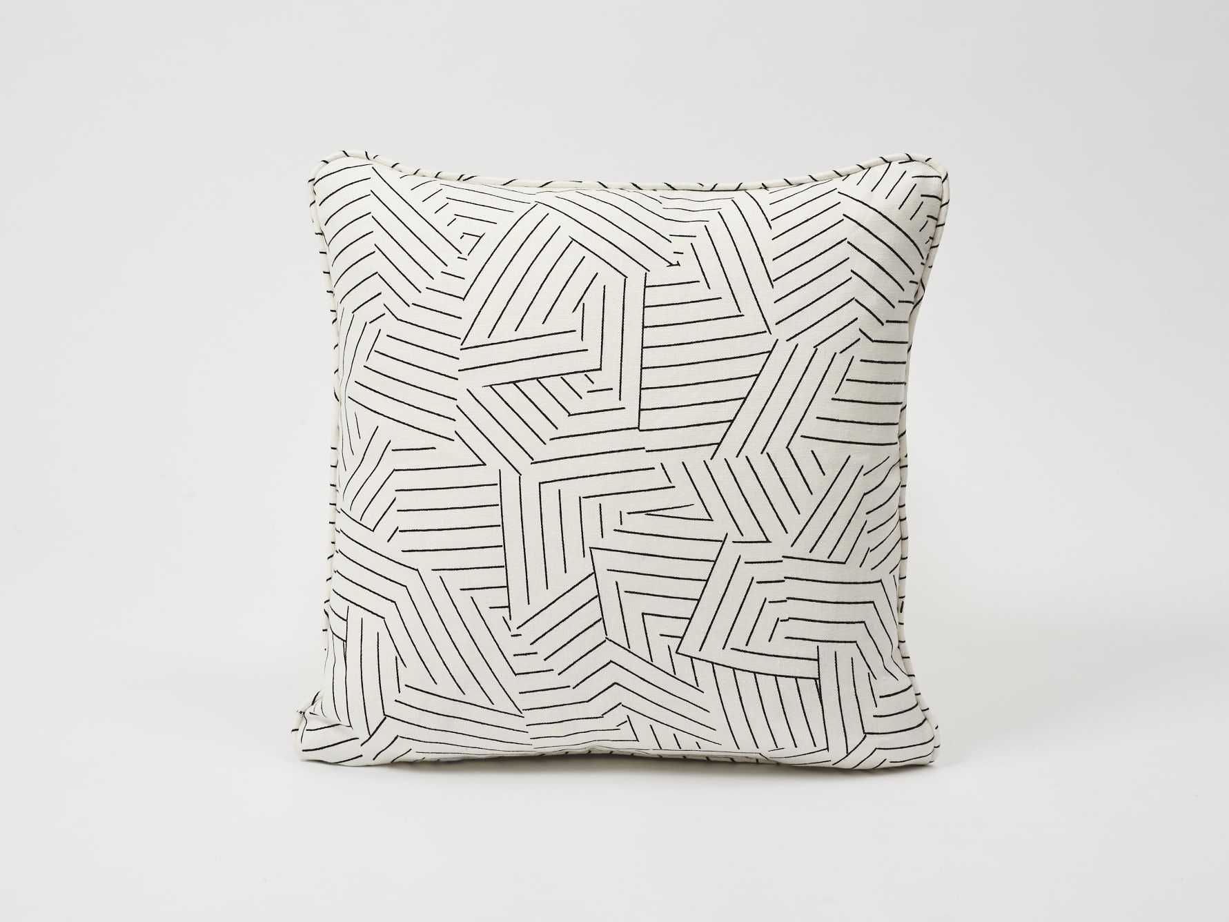 Deconstructed Stripe Linen Throw Pillow
