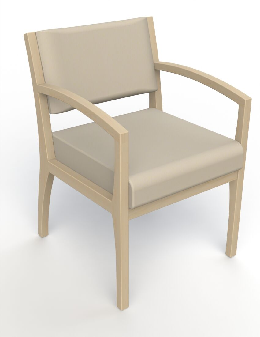 Itasca Wall Guard Back Leg Guest Chair Arm Options: Straight, Finish: Natural, Seat Color: Avant Bone
