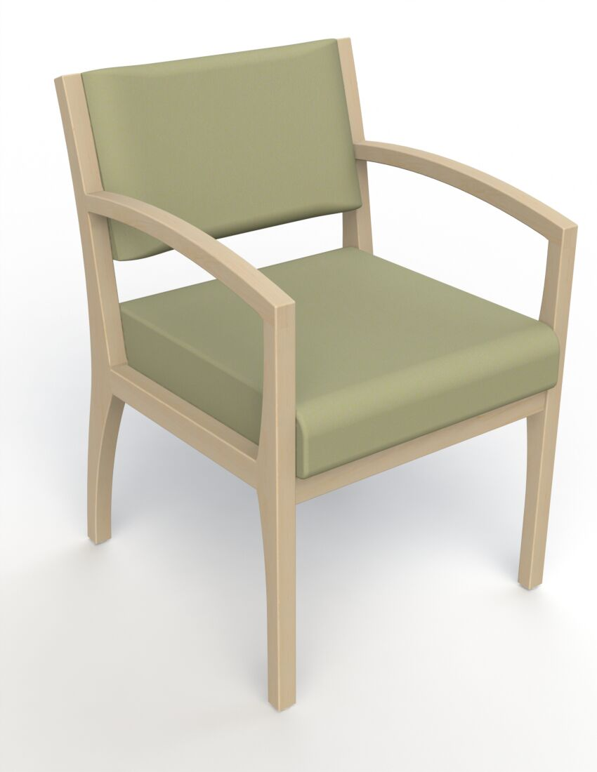 Itasca Wall Guard Back Leg Guest Chair Arm Options: Straight, Finish: Natural, Seat Color: Avant Sage