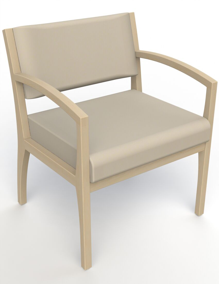 Itasca Wall Guard Back Leg Guest Chair Arm Options: Straight, Seat Color: Avant Bone, Finish: Natural