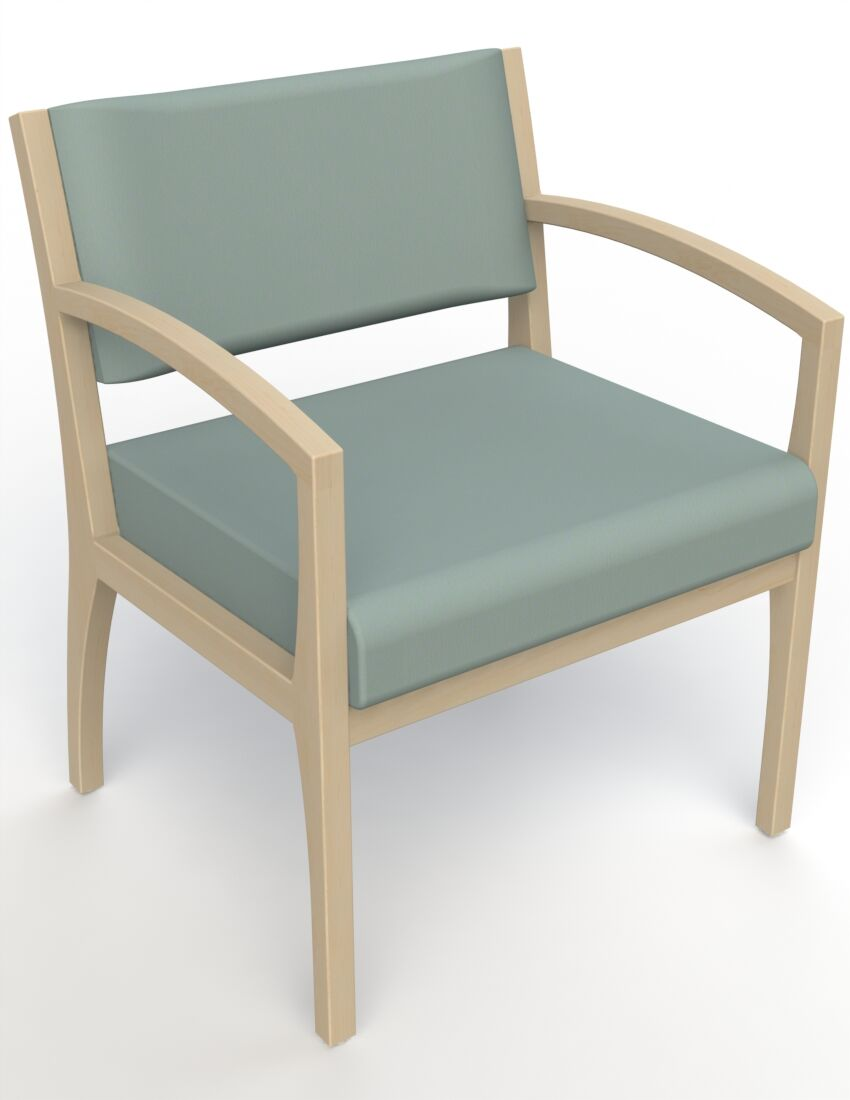 Itasca Wall Guard Back Leg Guest Chair Arm Options: Straight, Finish: Natural, Seat Color: Avant Calm