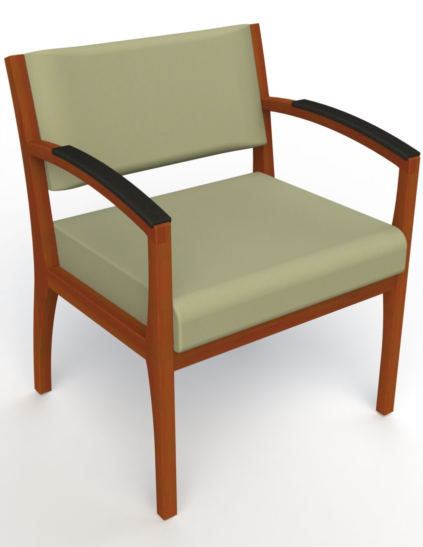 Itasca Wall Guard Back Leg Guest Chair Finish: Light Cherry, Arm Options: Padded, Seat Color: Avant Sage