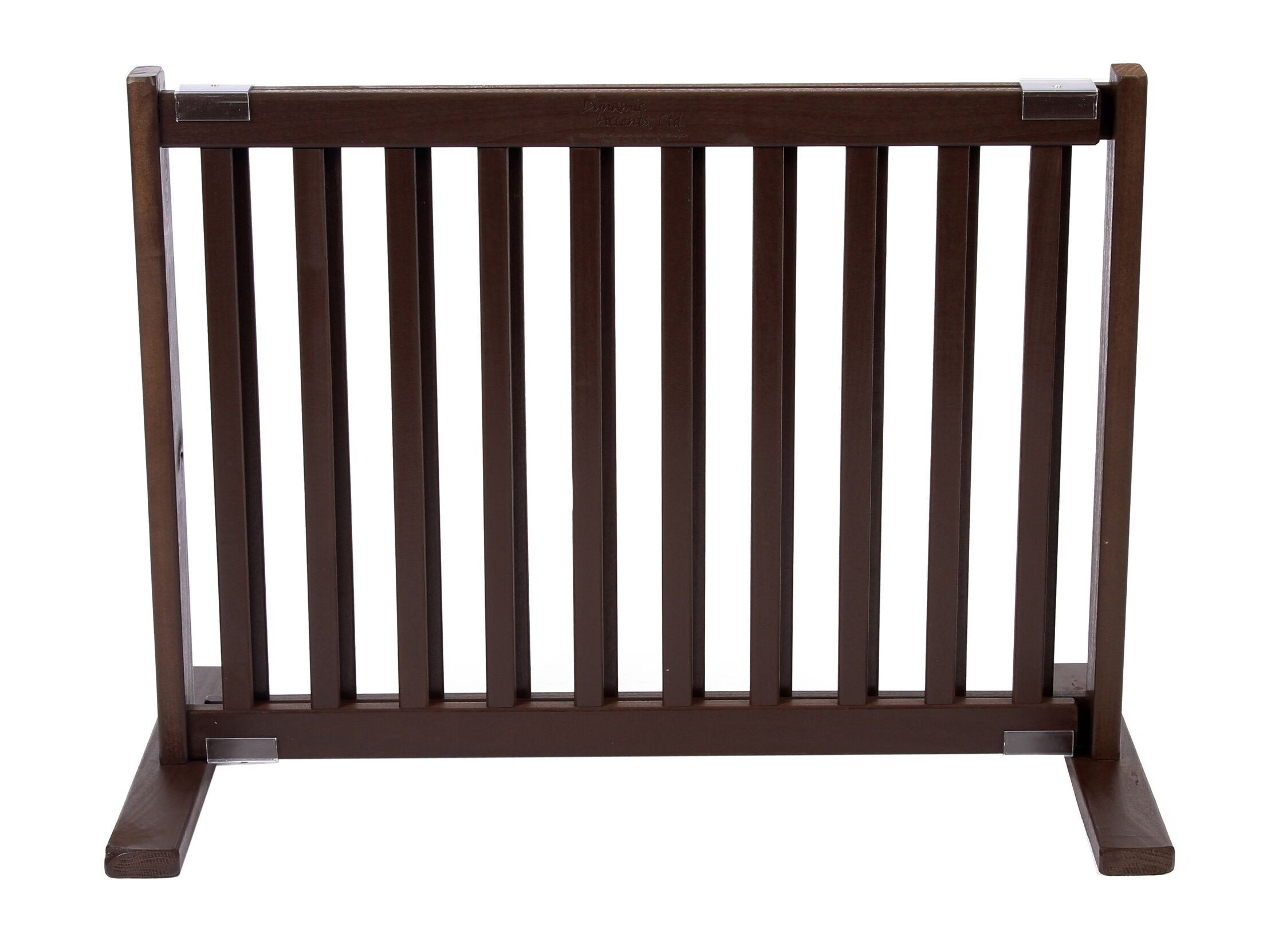 Clarice Handcrafted Bonnie Freestanding Pet Gate Size: Small, Finish: Mahogany
