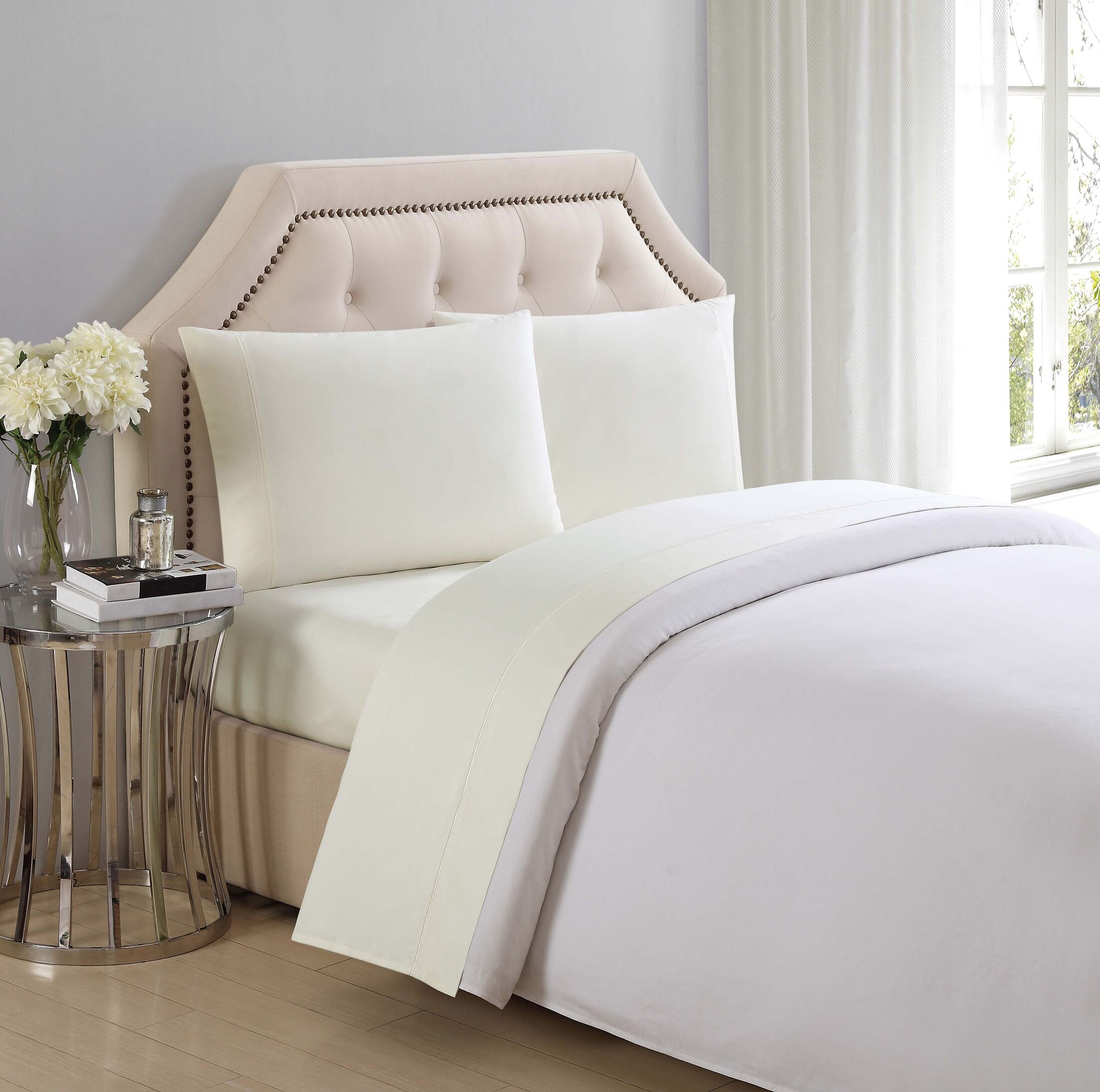 Solid Cotton Sheet Set Color: Sweet Corn, Size: Twin