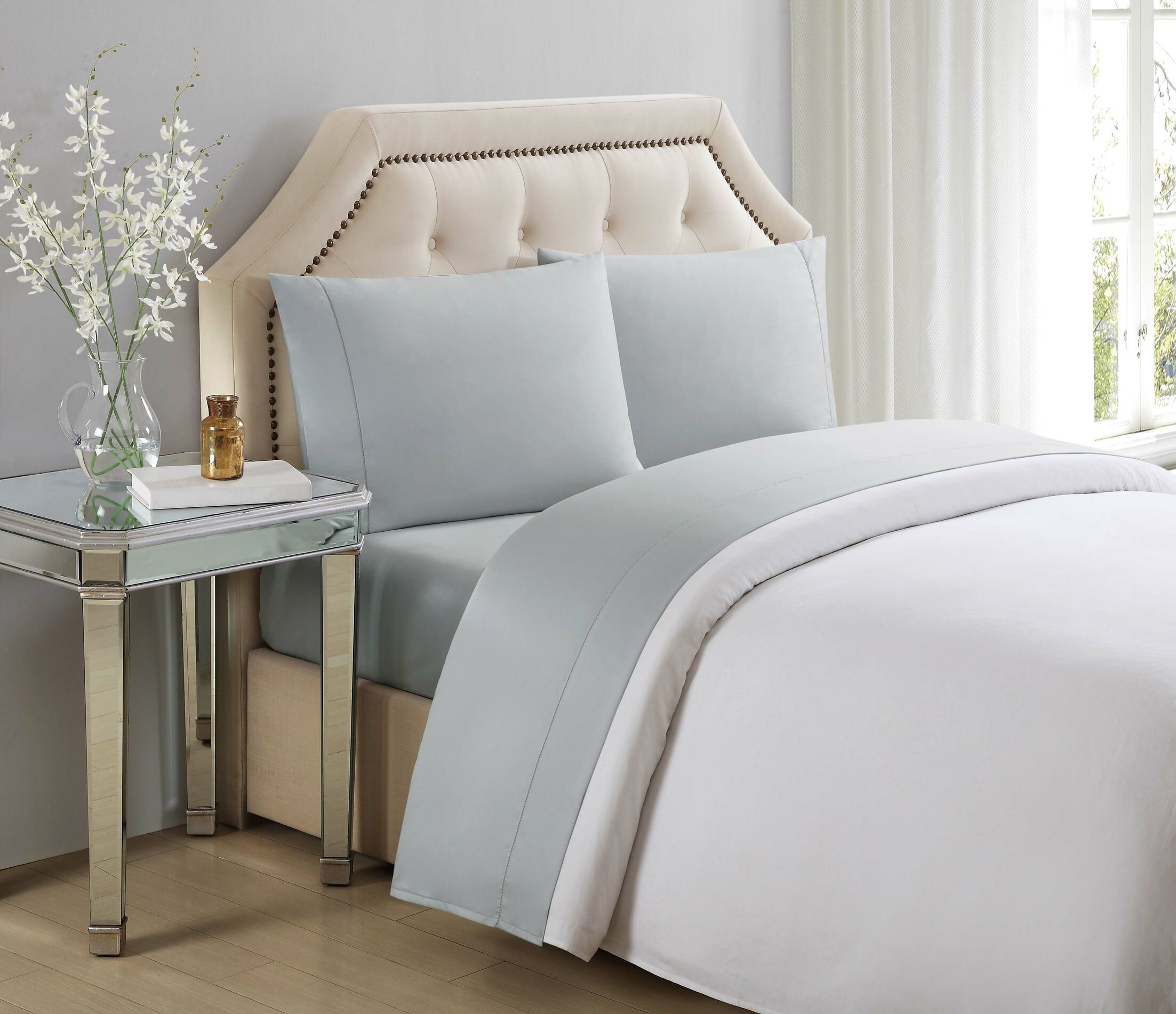 610 Thread Count 100% Cotton Sheet Set Color: Gray Violet, Size: King