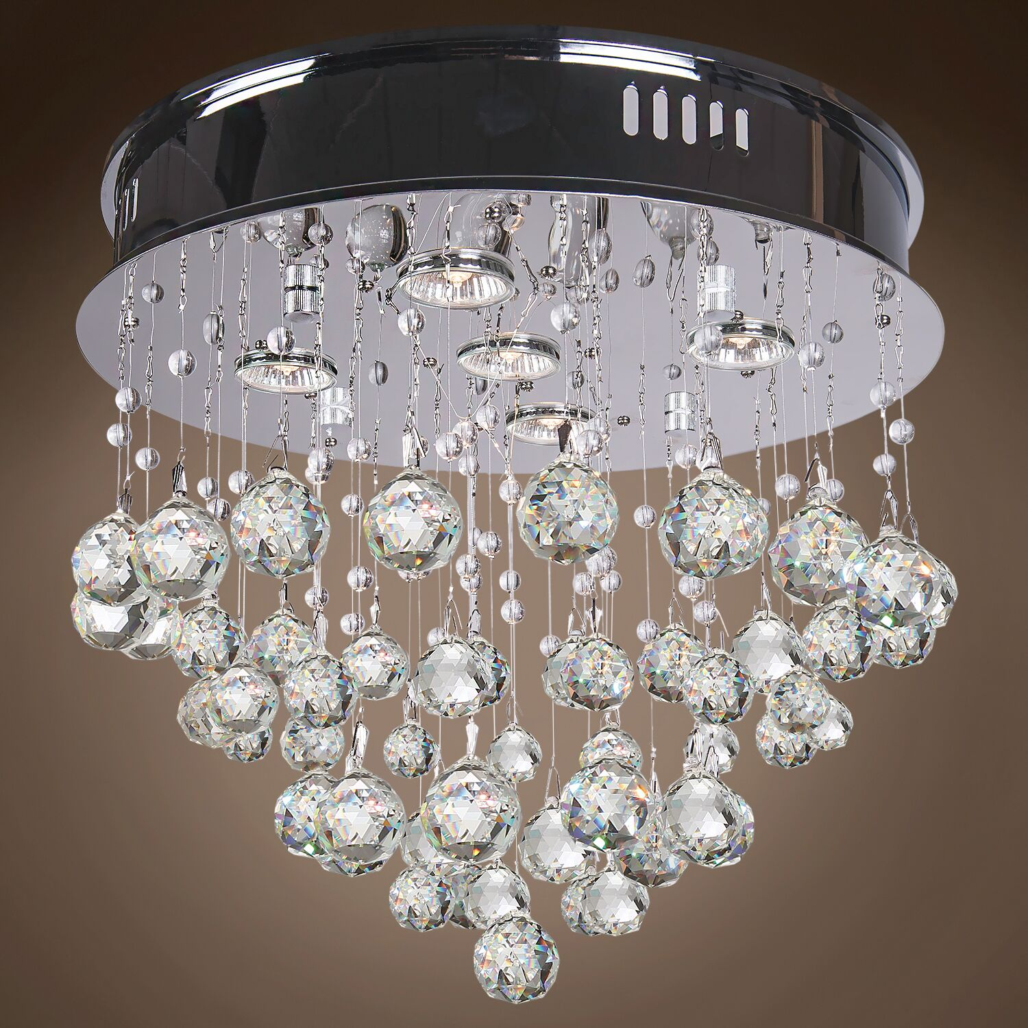 Drops of Rain 5-Light Flush Mount Finish: Clear European, Bulb Type: GU10 LED