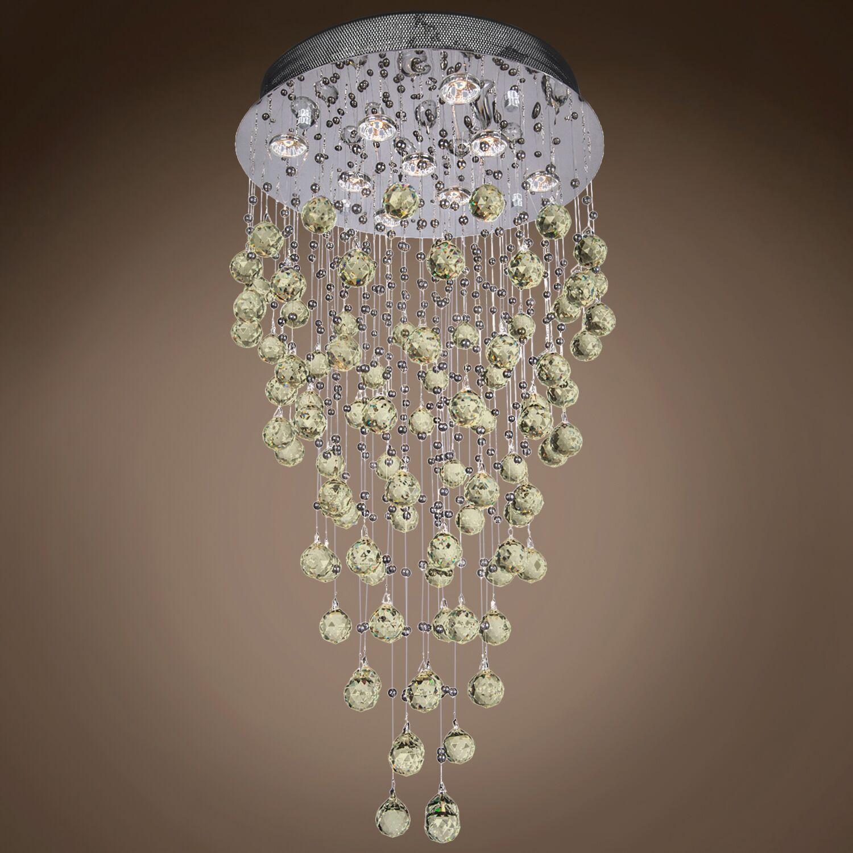 Drops of Rain 9-Light Flush Mount Finish: Golden Teak European, Bulb Type: GU10 LED