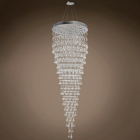 Drops of Rain 16-Light Cluster Pendant Crystal: Clear Swarovski