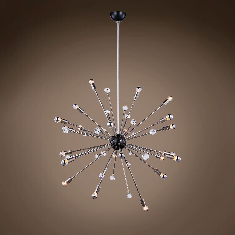 Eckmann Starburst 24-Light Chandelier