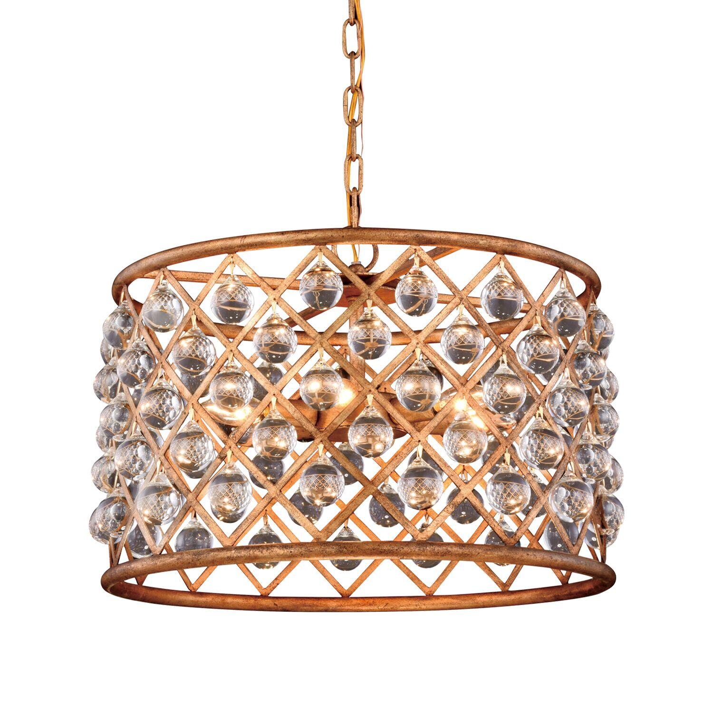 Lulsgate 6-Light Chandelier Finish: Gold, Bulb Type: LED