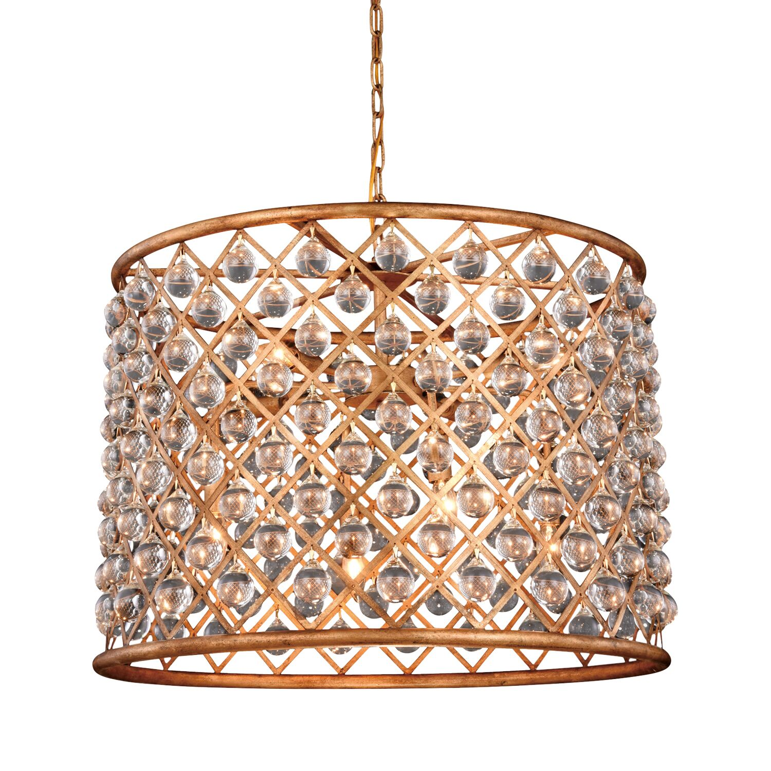 Lulsgate 8-Light Chandelier Finish: Gold, Bulb Type: Incandescent