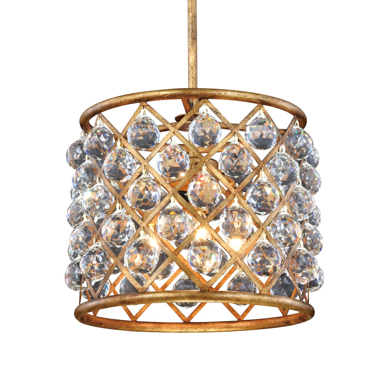 Lulsgate 4-Light Chandelier Shade Color: Clear, Finish: Gold, Bulb Type: LED