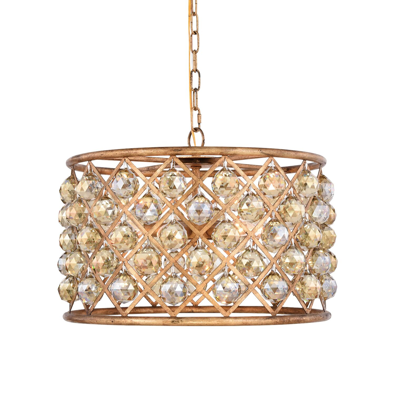 Lulsgate 6-Light Chandelier Finish: Gold, Shade Color: Golden, Bulb Type: LED