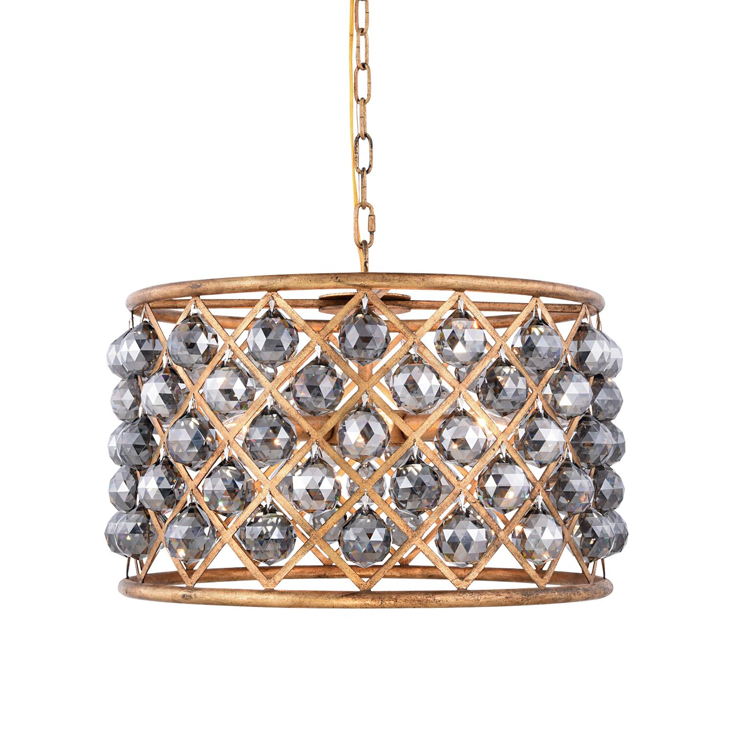 Lulsgate 6-Light Chandelier Finish: Gold, Bulb Type: Incandescent, Shade Color: Smoke