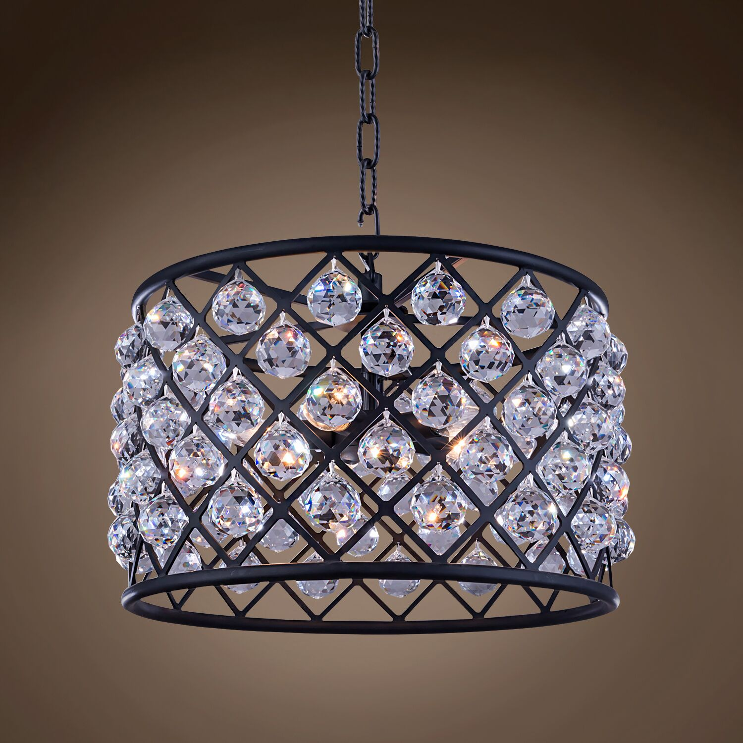 Lulsgate 6-Light Chandelier Shade Color: Clear, Finish: Gray, Bulb Type: LED