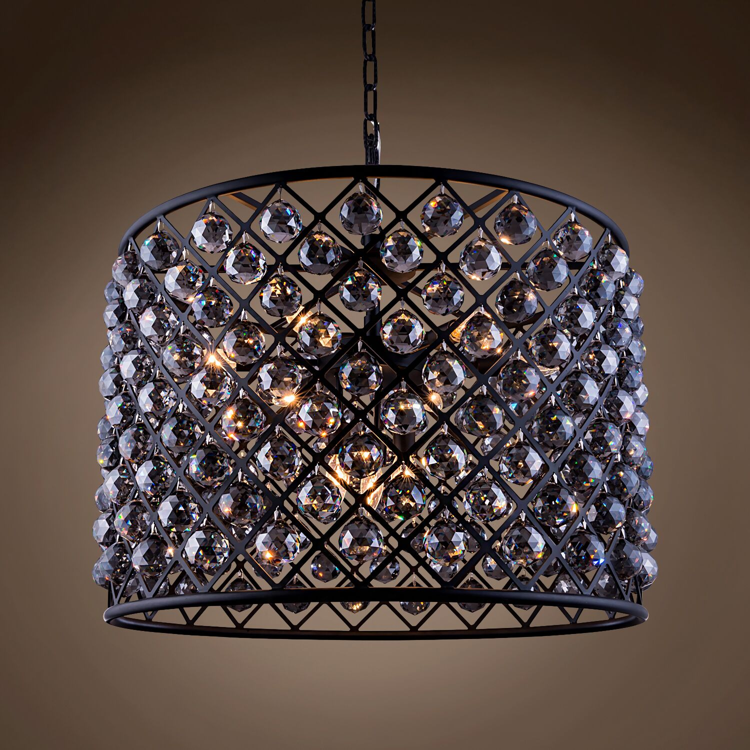 Lulsgate 8-Light Chandelier Finish: Gray, Bulb Type: LED, Shade Color: Smoke