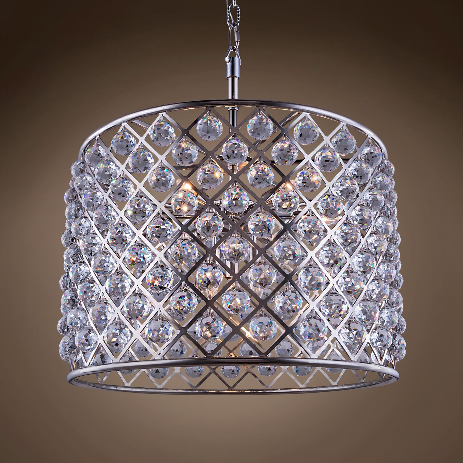 Lulsgate 8-Light Chandelier Bulb Type: Incandescent, Finish: Polished Nickel, Shade Color: Smoke