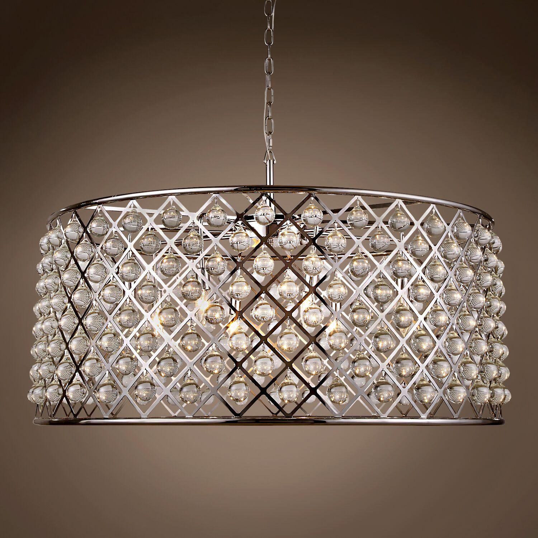 Lulsgate 10-Light Chandelier Bulb Type: LED, Finish: Polished Nickel