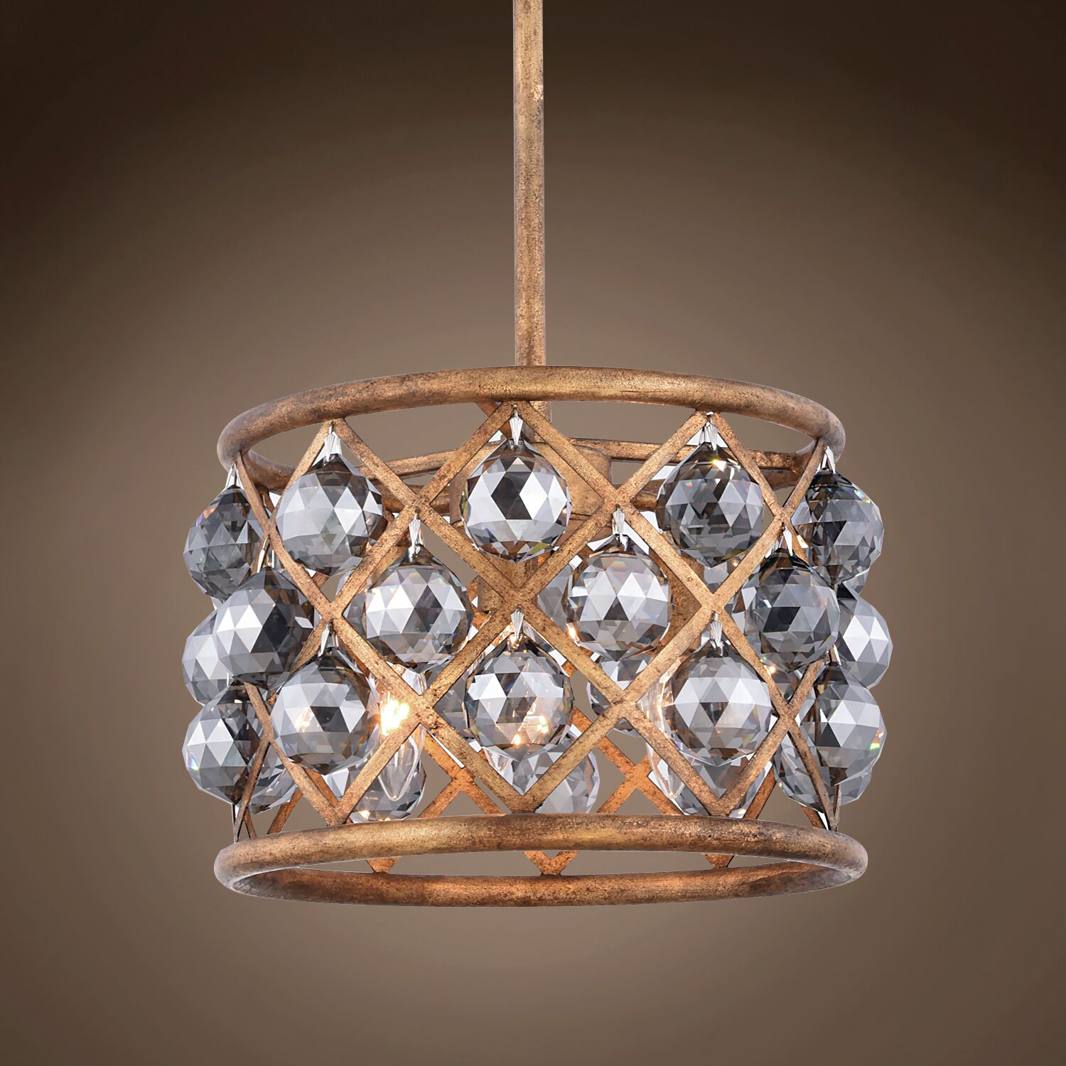 Lulsgate 3-Light Chandelier Finish: Gold, Bulb Type: Incandescent, Shade Color: Smoke