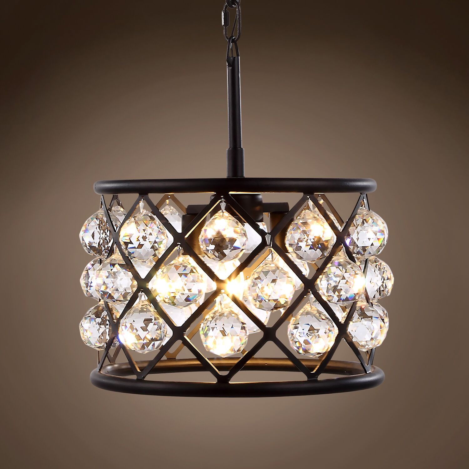 Lulsgate 3-Light Chandelier Shade Color: Clear, Finish: Gray, Bulb Type: Incandescent