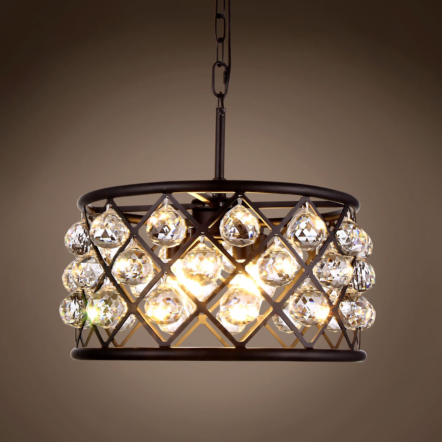Lulsgate 4-Light Chandelier Shade Color: Clear, Finish: Gray, Bulb Type: LED