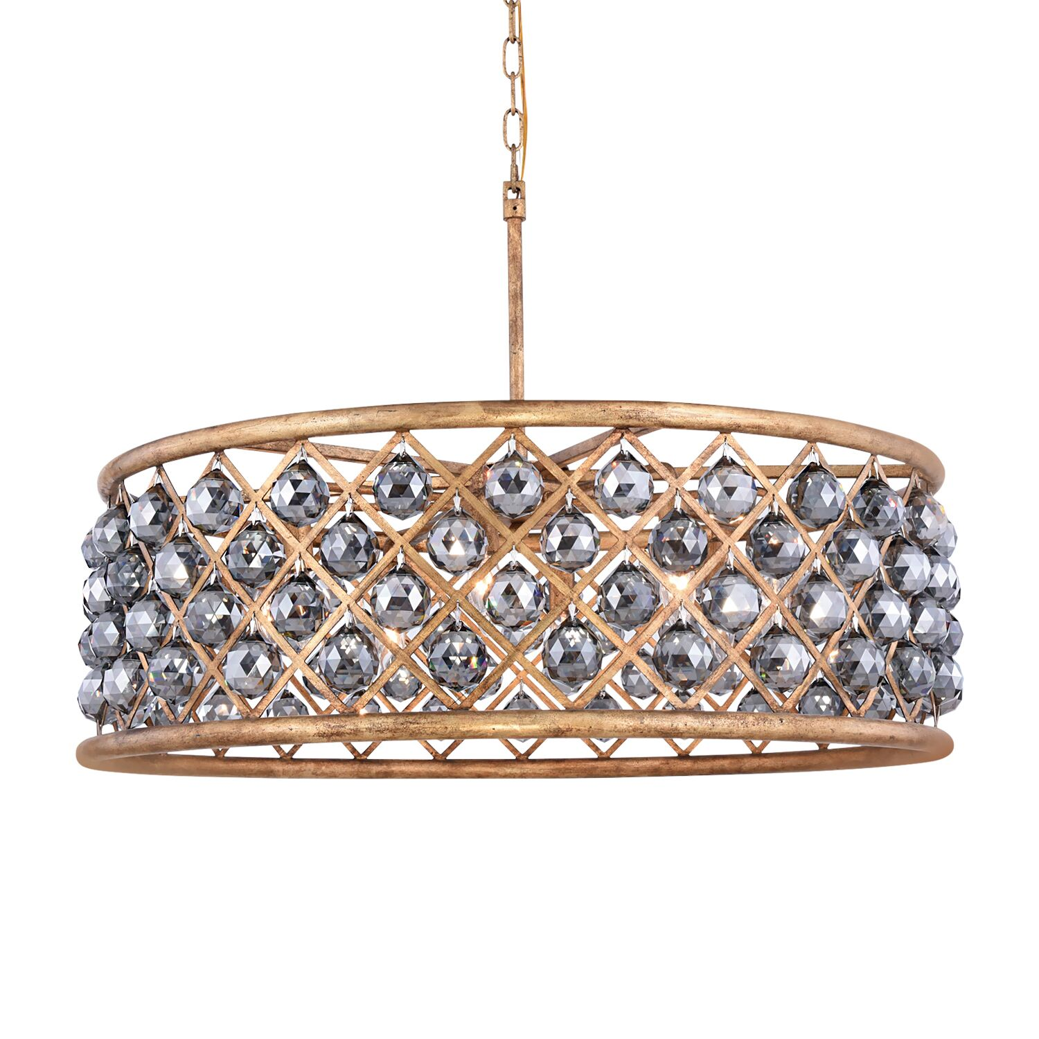 Lulsgate 8-Light Chandelier Finish: Gold, Bulb Type: Incandescent, Shade Color: Smoke