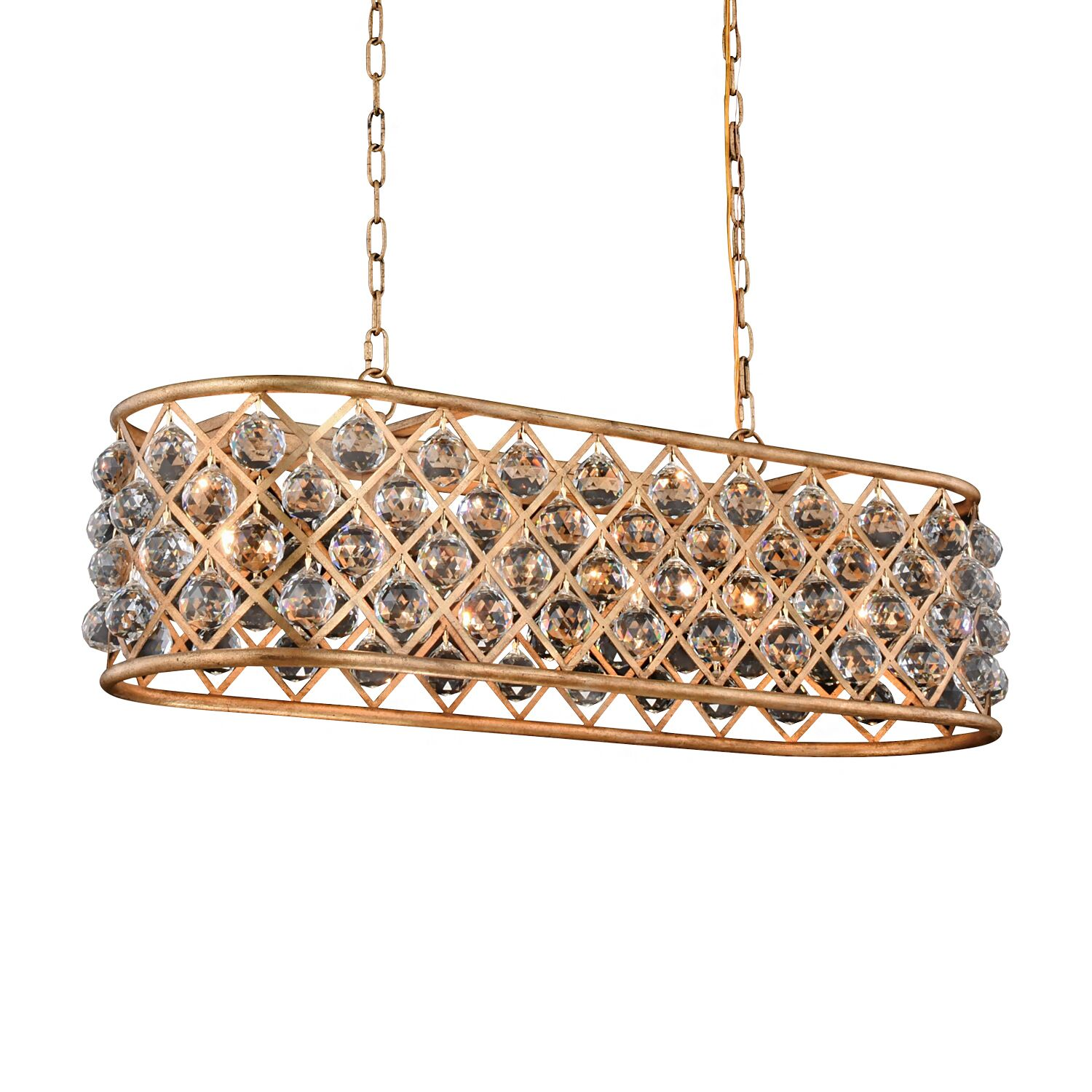 Lulsgate 6-Light Chandelier Shade Color: Clear, Finish: Gold, Bulb Type: LED