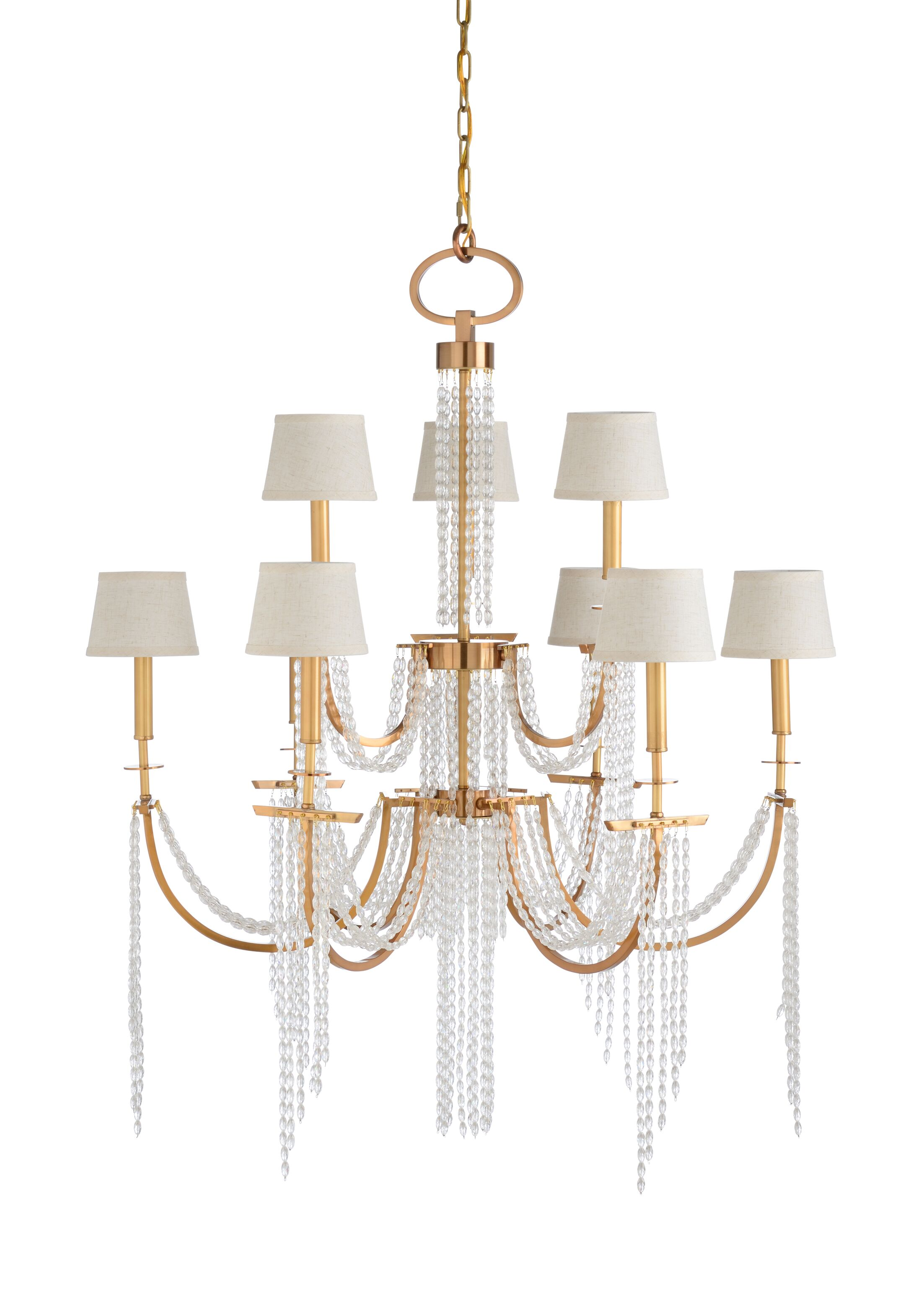 Mackie 9-Light Shaded Chandelier