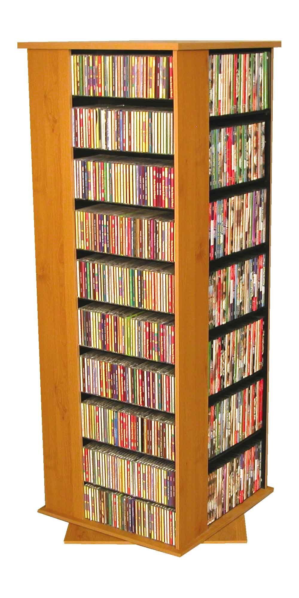 1600 CD Molded Multimedia Revolving Tower Color: Oak