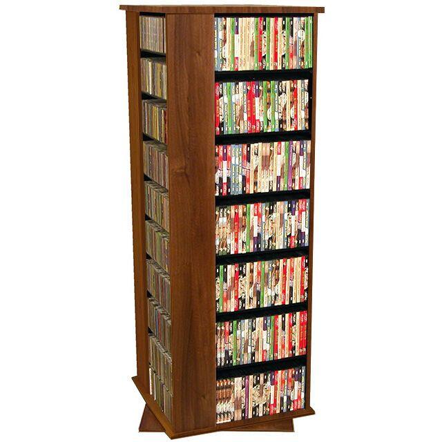 1600 CD Molded Multimedia Revolving Tower Color: Dark Walnut