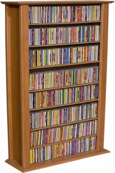Regular Single Multimedia Storage Rack Color: Oak