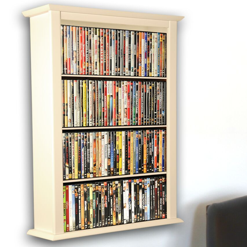 Single Wall Mounted Storage Rack Color: White