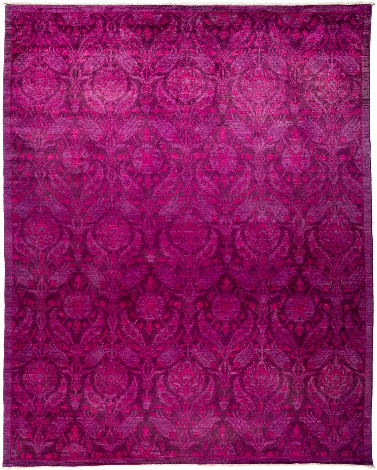 One-of-a-Kind Vibrance Hand-Knotted Purple / Pink Area Rug