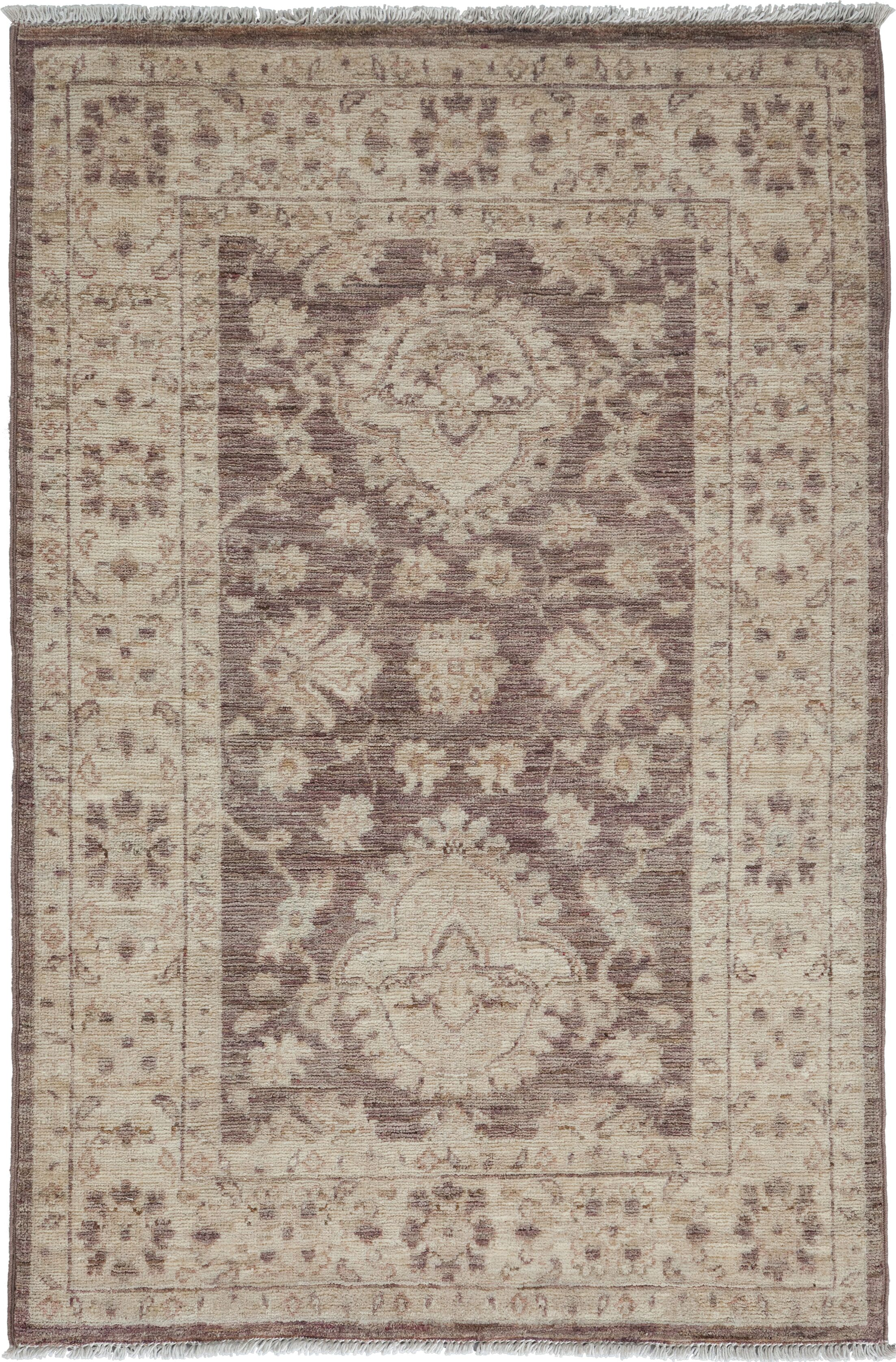 One-of-a-Kind Oushak Hand-Knotted Walnut Area Rug Rug Size: Rectangle 2'9