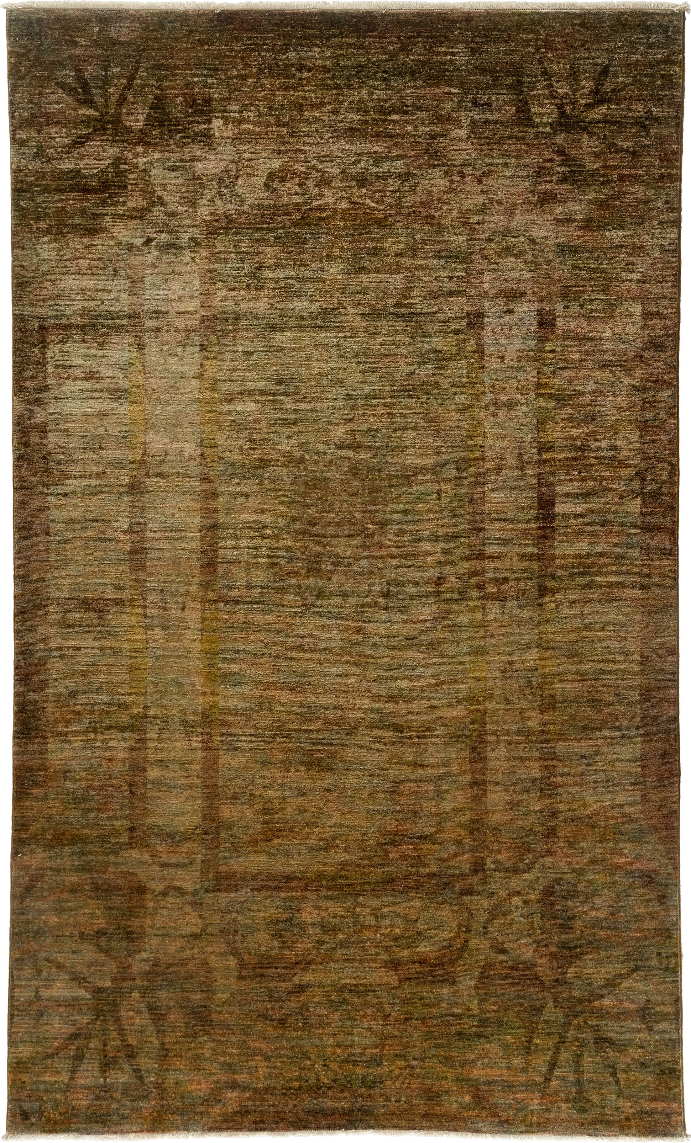 One-of-a-Kind Vibrance Hand-Knotted Gold Area Rug