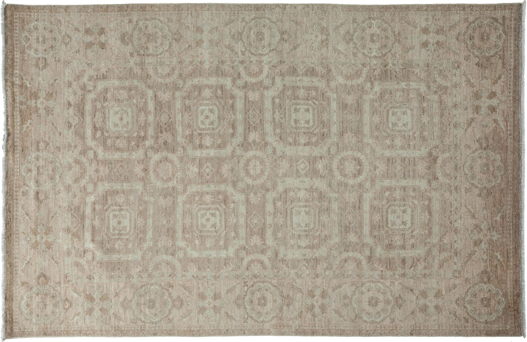 One-of-a-Kind Oushak Hand-Knotted Gray Area Rug