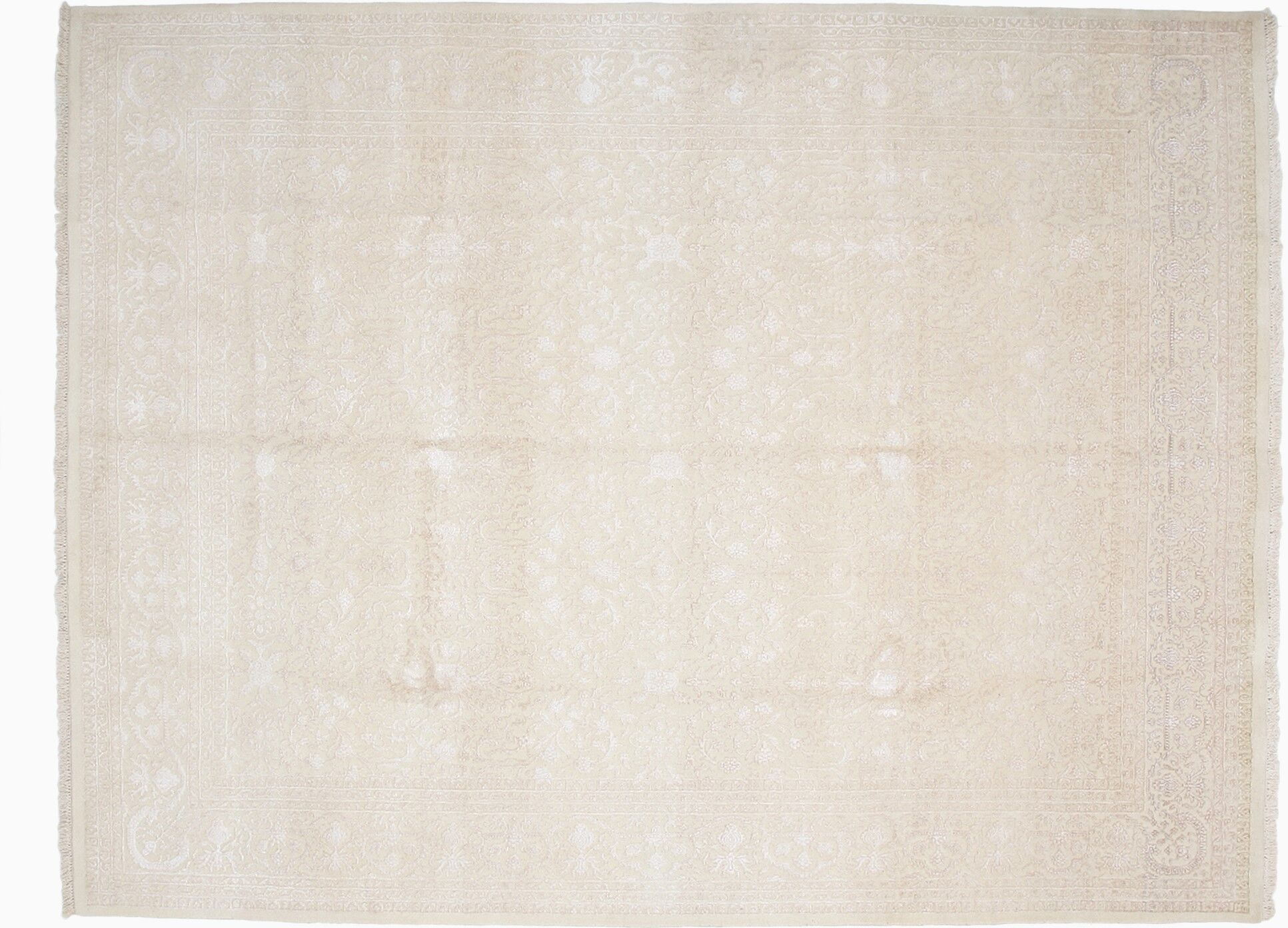 One-of-a-Kind Jaipur Hand-Knotted Ivory Area Rug