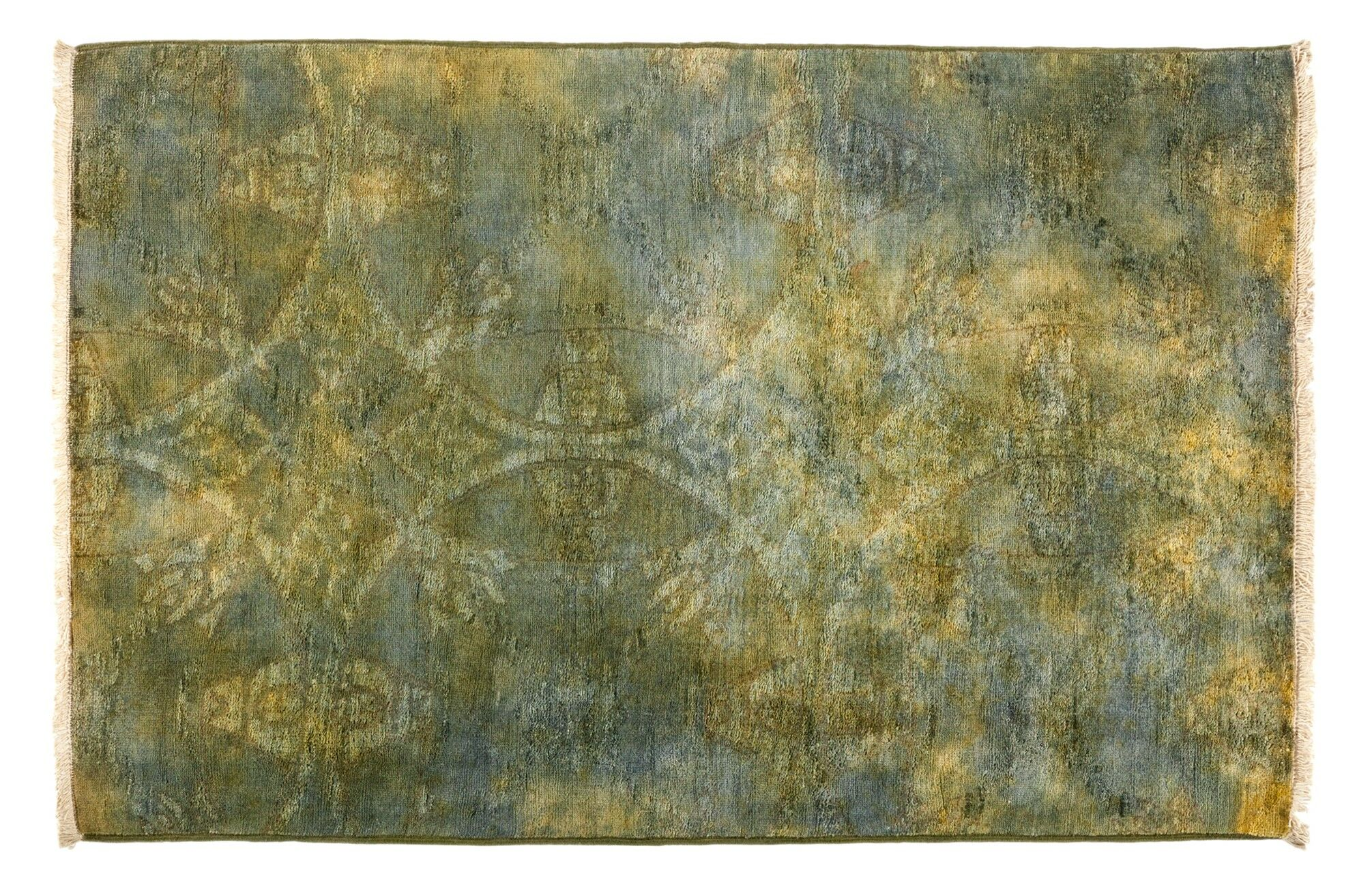 One-of-a-Kind Vibrance Hand-Knotted Multicolor Area Rug