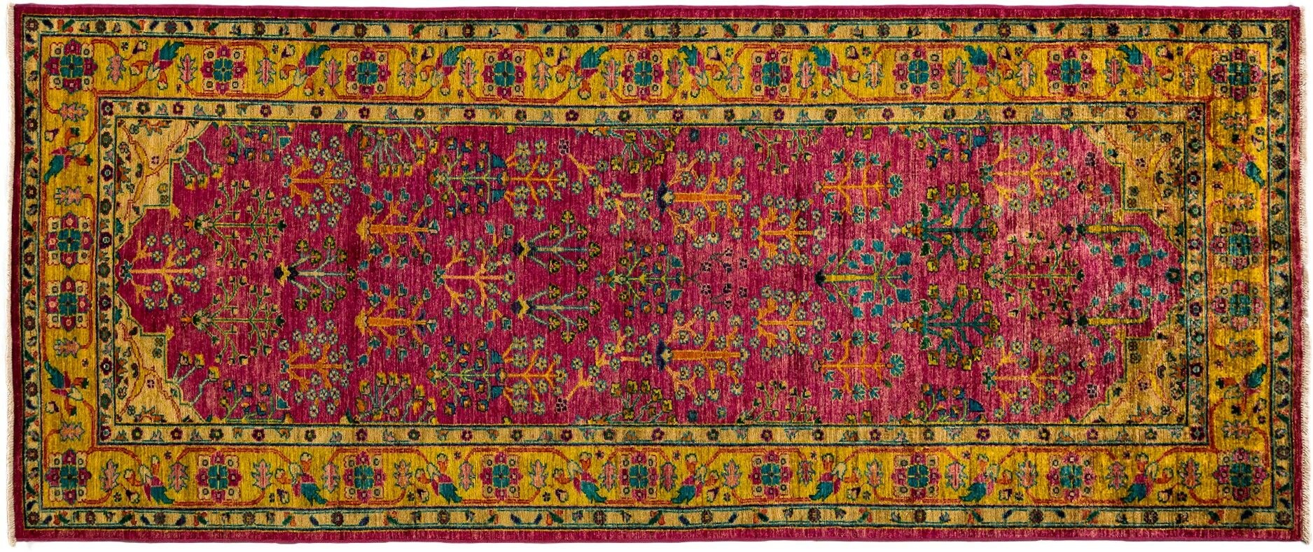 One-of-a-Kind Ziegler Hand-Knotted Pink Area Rug