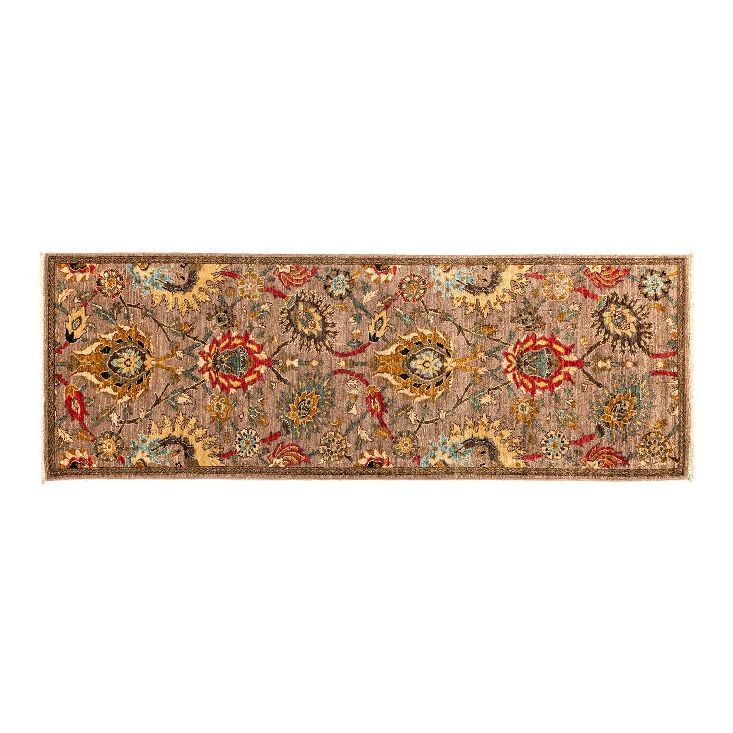 One-of-a-Kind Eclectic Vivid Hand-Knotted Multicolor Area Rug