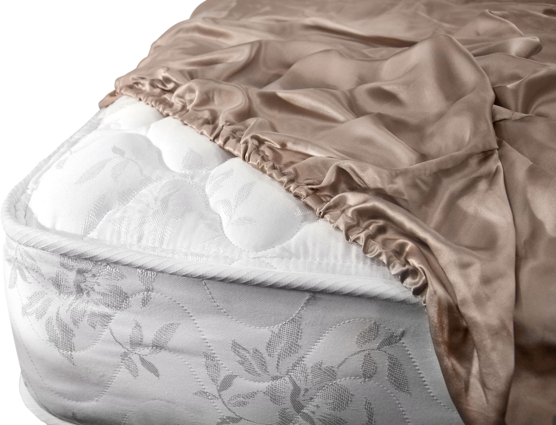 Aus Vio Mulberry Silk Fitted Sheet Size: King, Color: Pebble