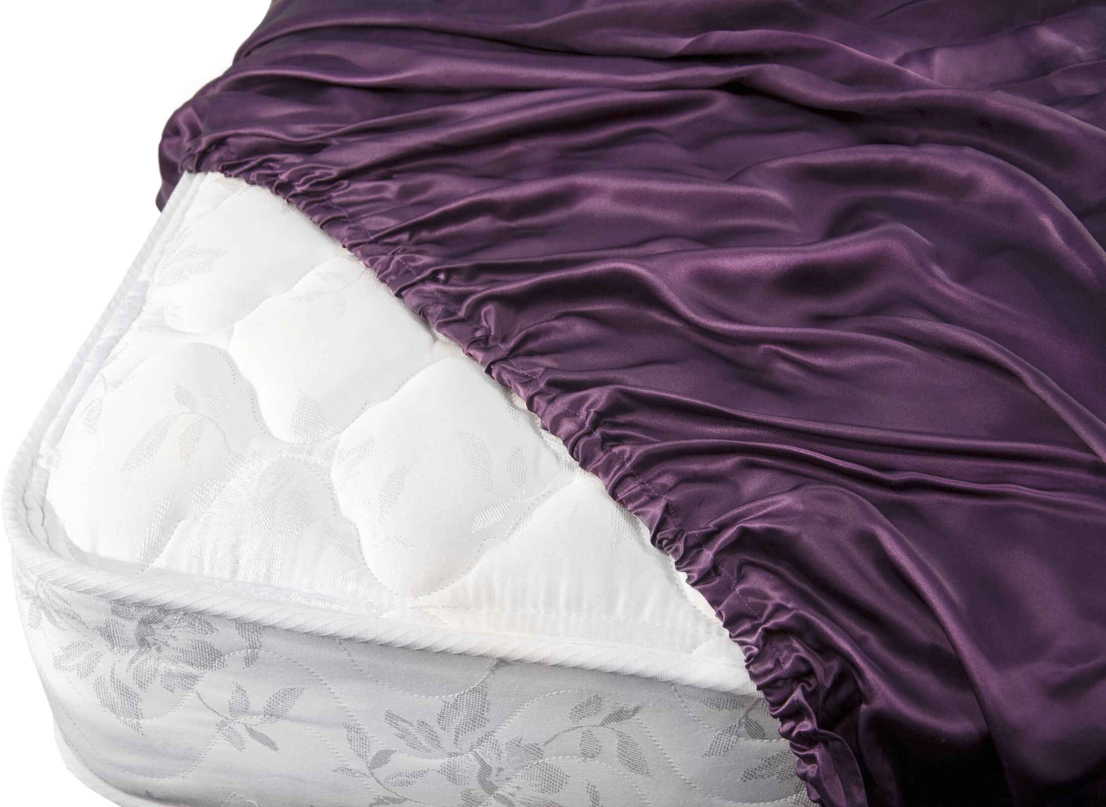 Aus Vio Mulberry Silk Fitted Sheet Size: Queen, Color: Iris
